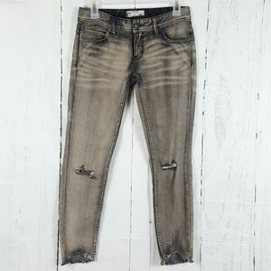 Free People Distressed Knee Cropped Capris 24